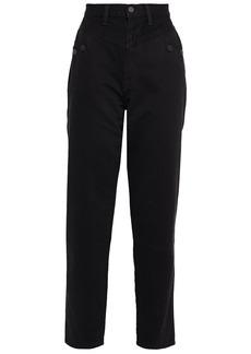 J Brand Woman + Elsa Hosk Playday High-rise Straight-leg Jeans Black