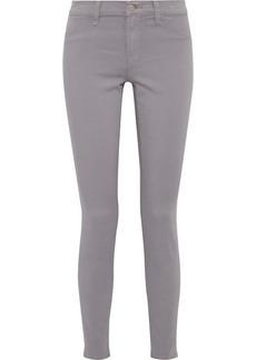J Brand Woman Cotton-blend Twill Skinny Pants Gray