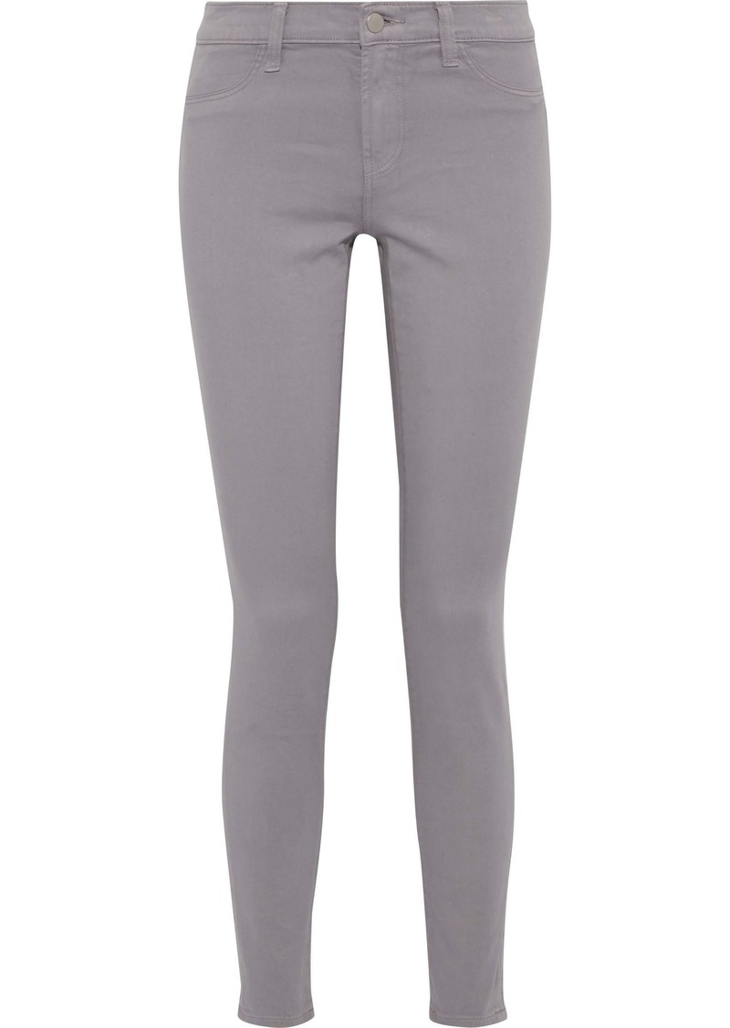 J Brand Woman Cotton-blend Twill Skinny Pants Gray