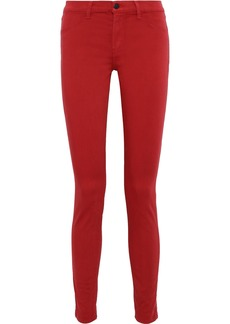 J Brand Woman 620 Mid-rise Skinny Jeans Red