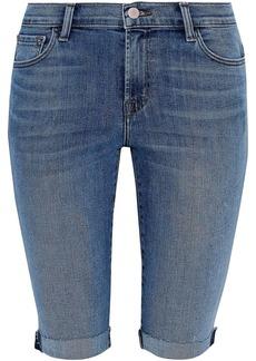 J Brand Woman 811 Faded Denim Shorts Light Denim