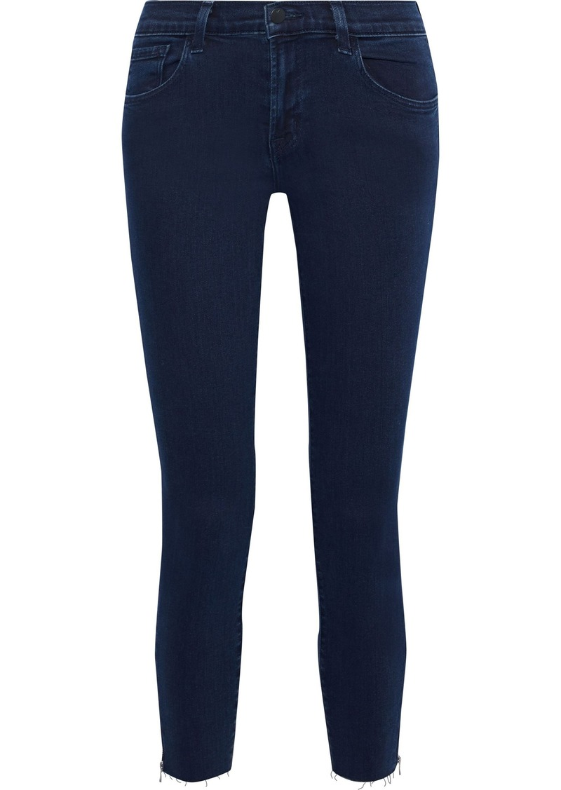 J Brand Woman 835 Cropped Mid-rise Skinny Jeans Dark Denim