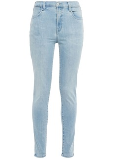 J Brand Woman Faded High-rise Skinny Jeans Light Denim