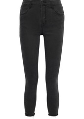 J Brand Woman Alana Cropped High-rise Skinny Jeans Black
