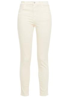 J Brand Woman Alana High-rise Skinny Jeans Cream