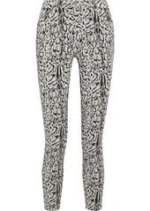 J Brand Woman Alana Leopard-print Mid-rise Skinny-leg Jeans Black