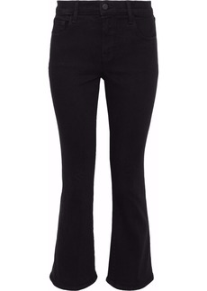 J Brand Woman Aubrie High-rise Kick-flare Jeans Black