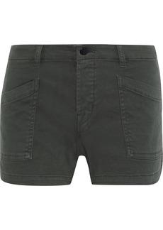 J Brand Woman Brona Cotton-blend Twill Shorts Dark Green