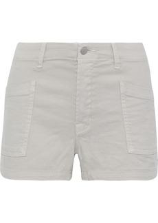 J Brand Woman Brona Cotton-blend Twill Shorts Stone