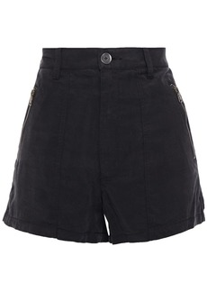 J Brand Woman Callie Twill Shorts Black