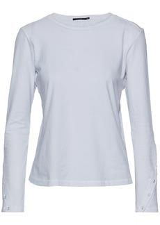 J Brand Woman Cotton-jersey Top White