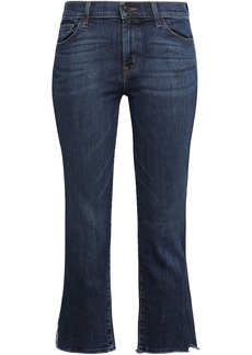 J Brand Woman Cropped Mid-rise Skinny Jeans Dark Denim