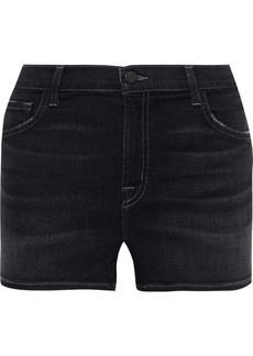 J Brand Woman Faded Denim Shorts Dark Denim