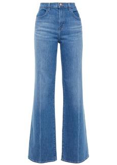 J Brand Woman High-rise Wide-leg Jeans Light Denim