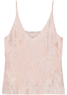 J Brand Woman Fil Coupé Silk-blend Camisole Blush