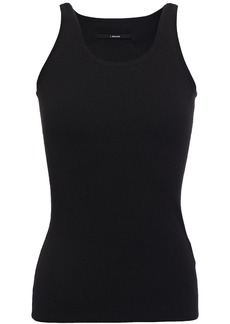 J Brand Woman Gabriella Ribbed-knit Tank Black