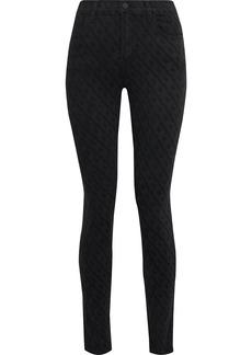 J Brand Woman Maria High-rise Skinny Jeans Black