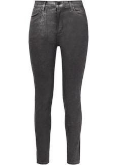 J Brand Woman High-rise Skinny Jeans Silver