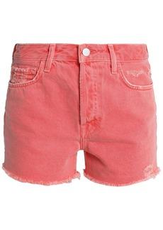 J Brand Woman Gracie Distressed Denim Shorts Papaya