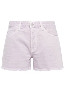 J Brand Woman Gracie Distressed Denim Shorts Lilac