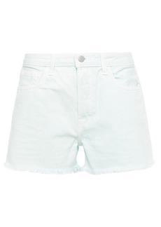 J Brand Woman Gracie Distressed Denim Shorts Mint