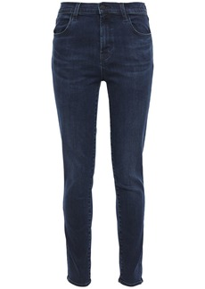 J Brand Woman High-rise Skinny Jeans Mid Denim