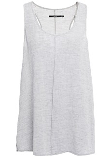J Brand Woman Indy Gauze Tank Light Gray