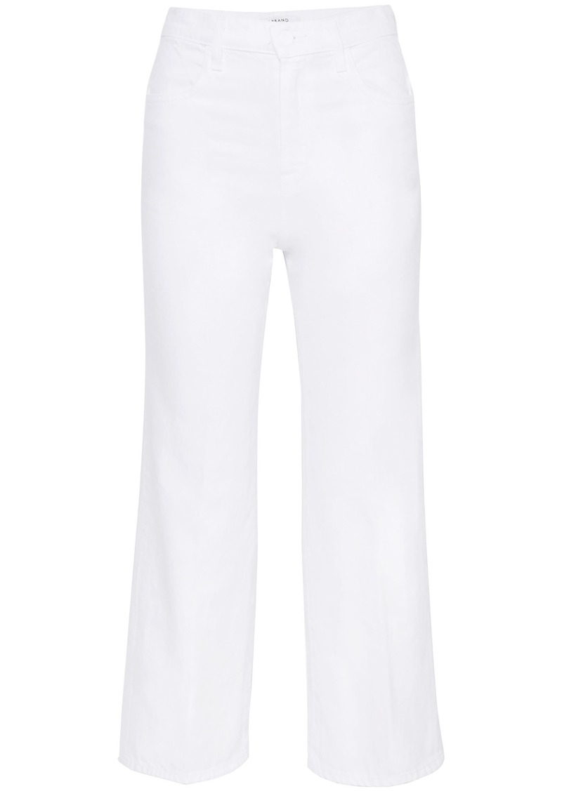 J Brand Woman Joan Cropped High-rise Bootcut Jeans White