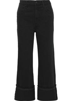 J Brand Woman Joan Cropped High-rise Wide-leg Jeans Charcoal