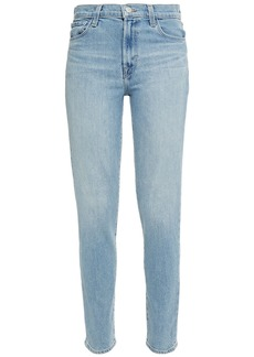 J Brand Woman Jules High-rise Straight-leg Jeans Light Denim