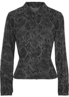 J Brand Woman Lindsey Snake-print Washed-silk Blouse Animal Print