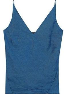 J Brand Woman Linen Camisole Blue