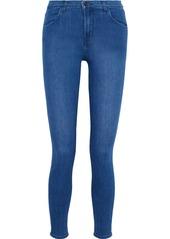 J Brand Woman Maria High-rise Skinny Jeans Blue