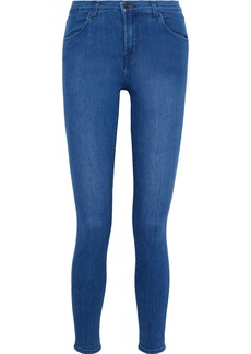 J Brand Woman Maria High-rise Skinny Jeans Blue