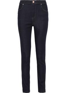 J Brand Woman Maria Mid-rise Skinny Jeans Midnight Blue