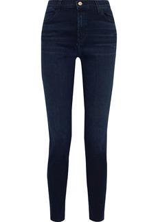 J Brand Woman Maria High-rise Skinny Jeans Dark Denim