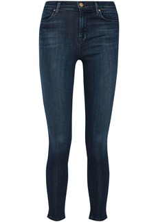J Brand Woman Maria High-rise Skinny Jeans Dark Denim