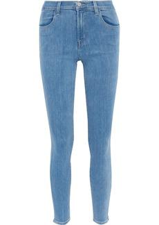 J Brand Woman Maria High-rise Skinny Jeans Mid Denim