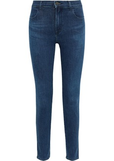 J Brand Woman Maria High-rise Skinny Jeans Midnight Blue