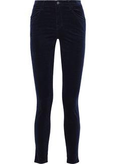 J Brand Woman Velvet Skinny Pants Midnight Blue
