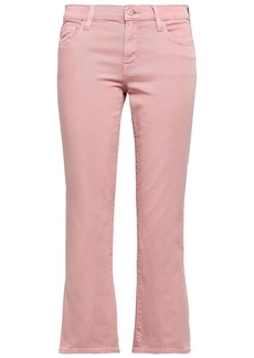 J Brand Woman Mid-rise Kick-flare Jeans Baby Pink