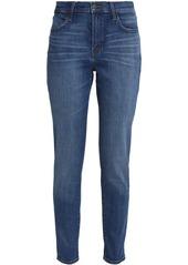 J Brand Woman Mystic Distressed Mid-rise Skinny Jeans Mid Denim