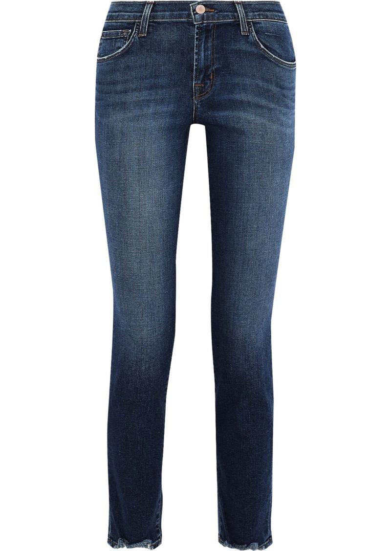 J Brand Woman Mid-rise Slim-leg Jeans Dark Denim