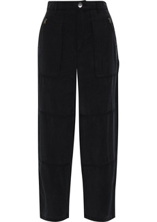 J Brand Woman Noelle Washed-twill Straight-leg Pants Black