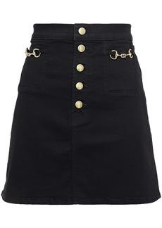 J Brand Woman Sabine Embellished Denim Mini Skirt Black