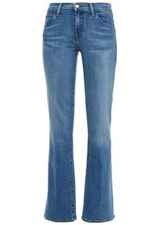J Brand Woman Sallie Faded Mid-rise Bootcut Jeans Light Denim