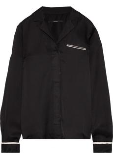 J Brand Woman Satin-twill Shirt Black