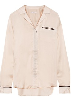 J Brand Woman Satin-twill Shirt Blush