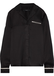 J Brand Woman Satin-twill Shirt Black