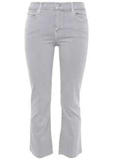 J Brand Woman Selena Cropped Mid-rise Bootcut Jeans Light Gray